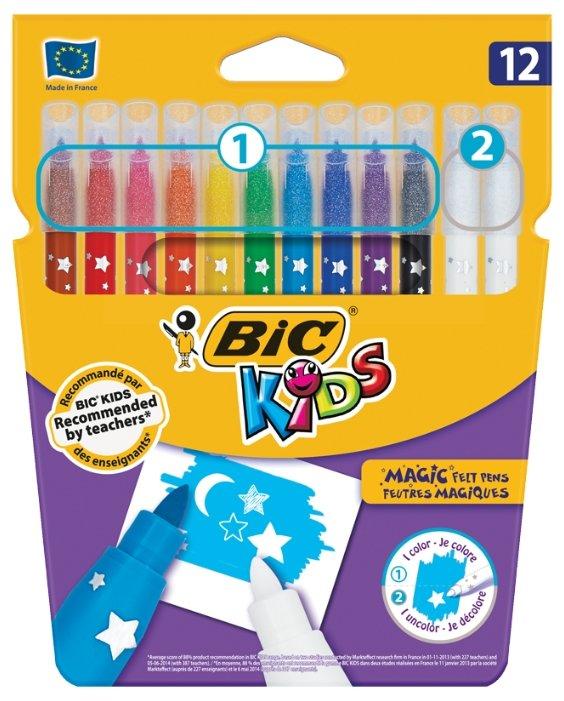 BIC Набор фломастеров Kids Magic (9202962), 12 шт.