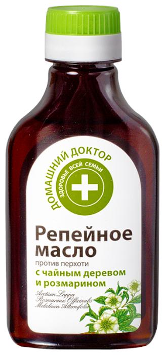 Домашний доктор Репейное масло против перхоти с чайным деревом и розмарином