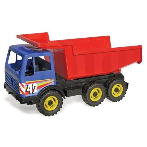 Грузовик ЛЕНА Мерседес (08810) 42 см красный/синий, Машинки и техника  - купить со скидкой