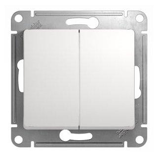 Выключатель 2х1-полюсный Schneider Electric GLOSSA GSL000151, 10А , белый