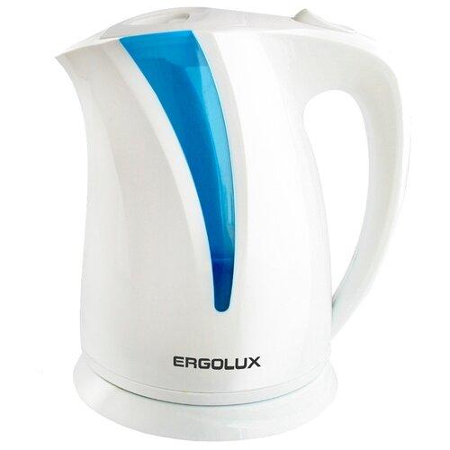 Чайник Ergolux ELX-KP03, белый весы ergolux elx sk03 c02 black