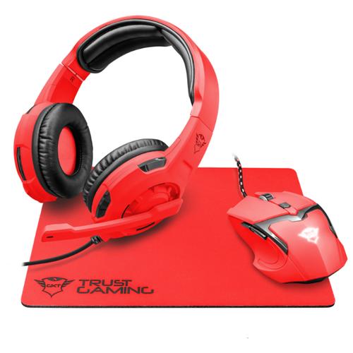 Компьютерная гарнитура Trust GXT790 Spectra красный компьютерная акустика trust