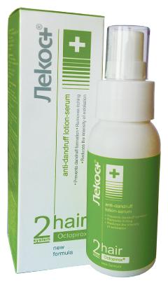 ЛеКос+ Hair System 2 Лосьон-сыворотка «Против перхоти» для волос и кожи головы