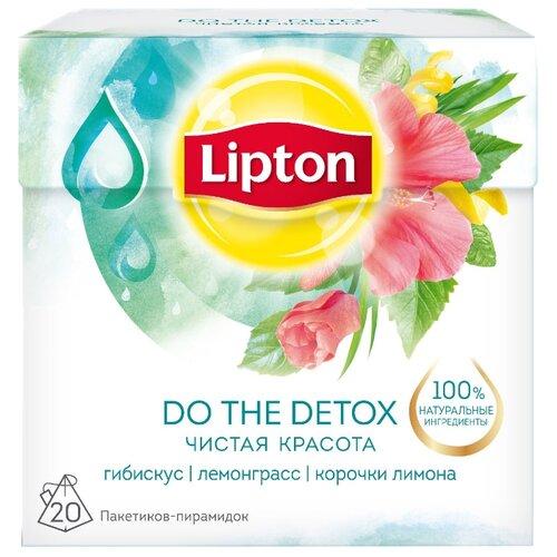 Чайный напиток травяной Lipton Do the Detox в пирамидках, 20 шт.