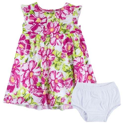 Купить Комплект одежды playToday размер 74, белый/розовый/светло-розовый/зеленый/светло-зеленый, Комплекты
