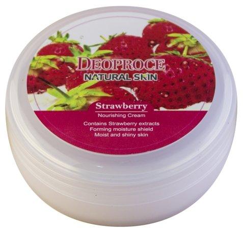 Крем для тела Deoproce Natural Skin Strawberry Nourishing Cream