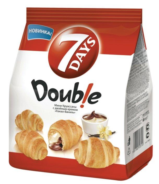 7DAYS Мини круассаны с двойным кремом какао-ваниль
