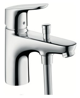 Смеситель для ванны с подключением душа hansgrohe