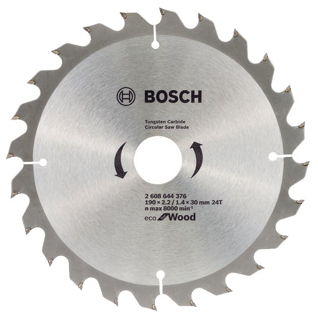 Диск пильный твердосплавный Bosch Eco wo 190x30-24t (2.608.644.376)