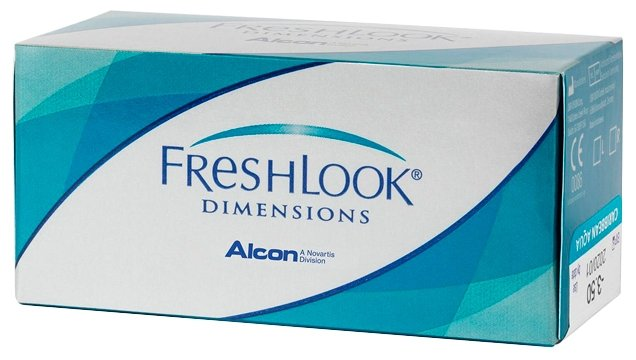Контактные линзы FreshLook (Alcon) Dimensions (6 линз) R 8,6 D -1 sea green