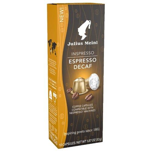 Кофе в капсулах Julius Meinl Espresso Decaf (10 капс.) кофе в капсулах single cup decaf 10 капс