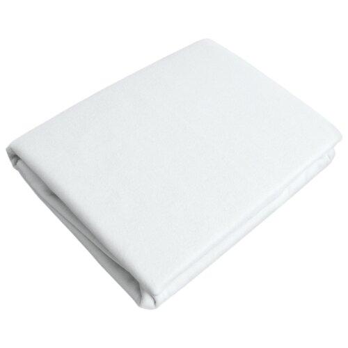 цена Простыня OLTEX трикотажная на резинке 140 х 200 см белый онлайн в 2017 году
