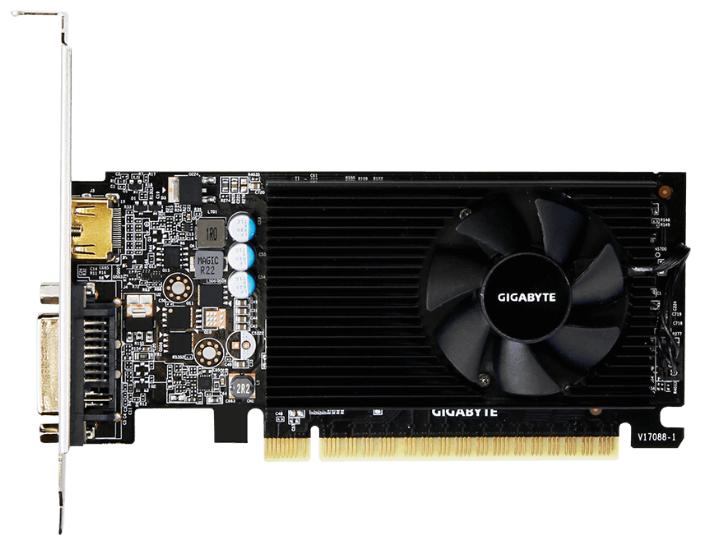 GIGABYTE Видеокарта GIGABYTE GeForce GT 730 902Mhz PCI-E 2.0 2048Mb 5000Mhz 64 bit DVI HDMI HDCP Low Profile
