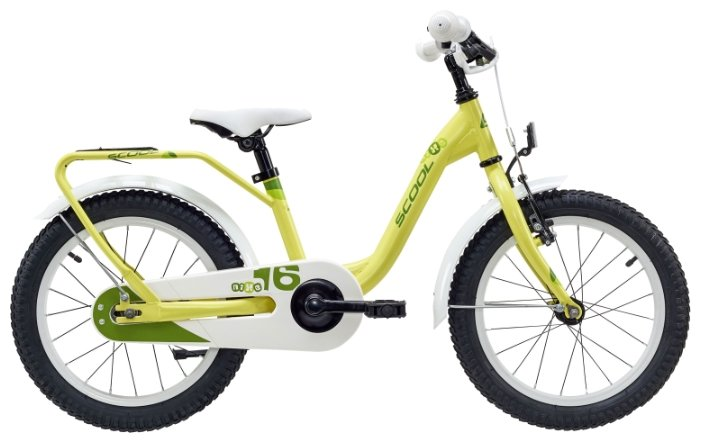 Велосипед Scool niXe 16 steel (2018) Желтый