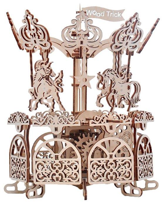 Сборная модель Wood Trick Карусель (1234-11),,