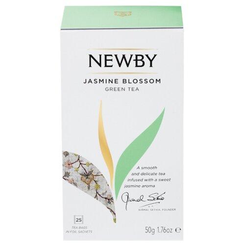 Чай зеленый Newby Jasmine blossom в пакетиках , 25 шт. newby hunan green зеленый чай в пирамидках 15 шт