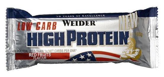 Weider протеиновый батончик 40% Low Carb (100 г)(1 шт.)