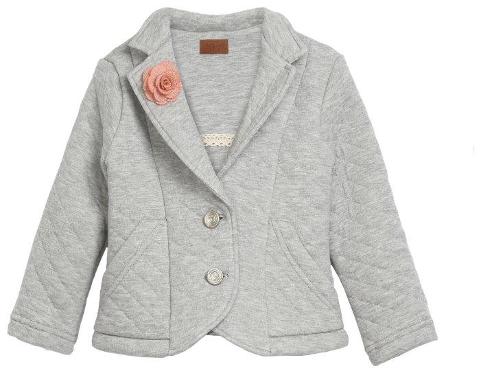 Жакет Ёмаё Богема, цвет: серый, для девочек, размер 122