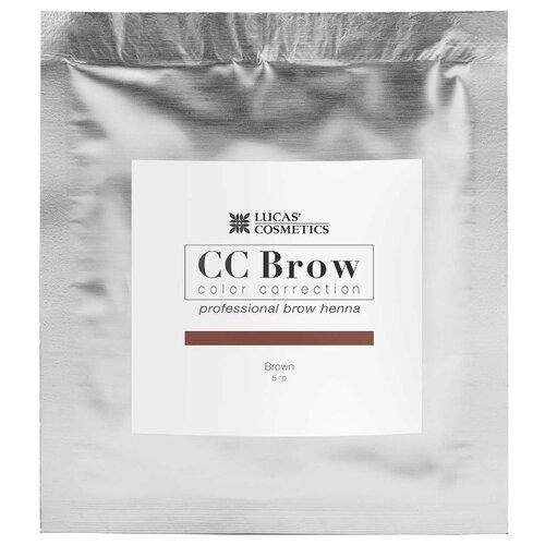 CC Brow Хна для бровей в саше 5 г brown cc brow хна для бровей в саше 5 г black