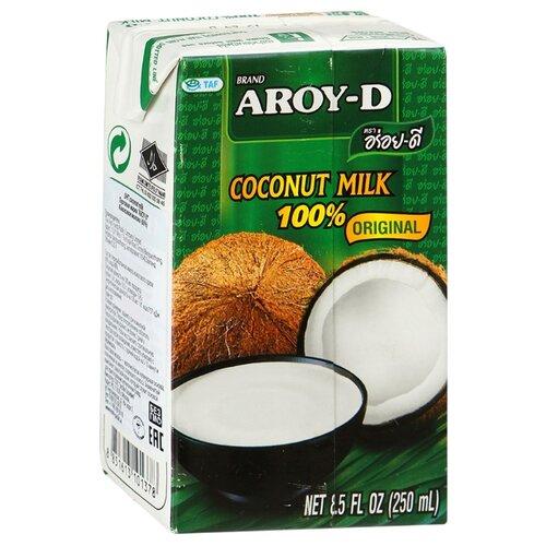 Aroy-D Молоко кокосовое, 250 мл готовый суп aroy d том ям 400 мл