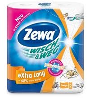 Полотенца бумажные Zewa Wish&Weg белые с рисунком двухслойные