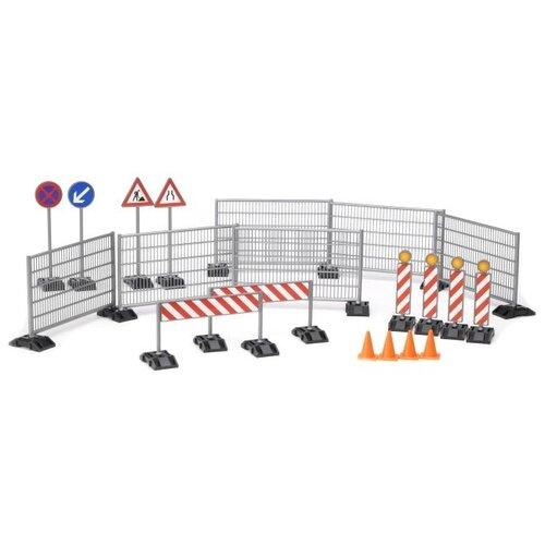 Купить Bruder Знаки аварийной службы 62-007 голубой/красный/оранжевый/серый, Детские парковки и гаражи