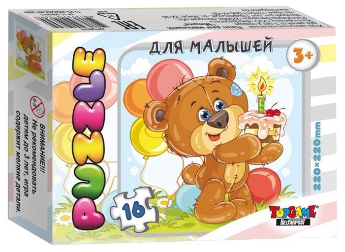 Пазл TopGame Мишка Пушистик (01122/ББ18432), 16 дет.