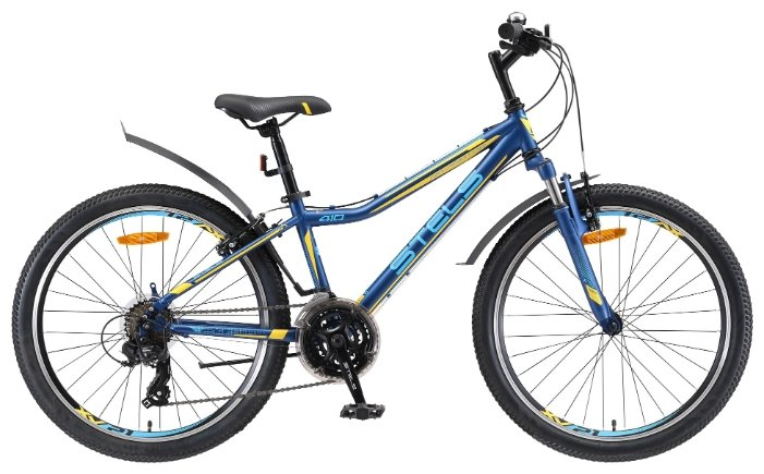 Подростковый горный (MTB) велосипед STELS Navigator 410 V 24 21-sp V010