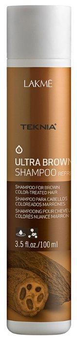 Lakme шампунь Teknia Ultra Brown Освежающий цвет коричневых оттенков волос