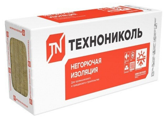 Каменная вата Технониколь Техновент Стандарт 1200x600х180мм 2 шт