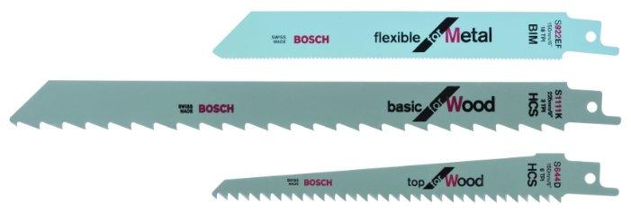 Пильное полотно для сабельной пилы BOSCH S922EF, S644D, S1111K 3 шт.