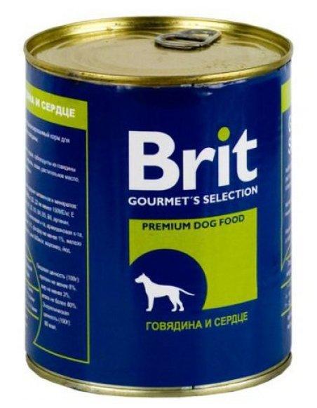 Корм для собак Brit Консервы для собак Говядина и сердце