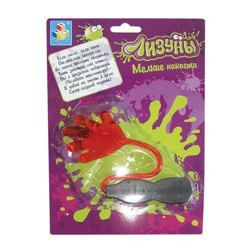 Фото - Лизун 1 TOY Шлепок Т52279 развивающие игрушки 1 toy мелкие пакости лизун шлепок нога