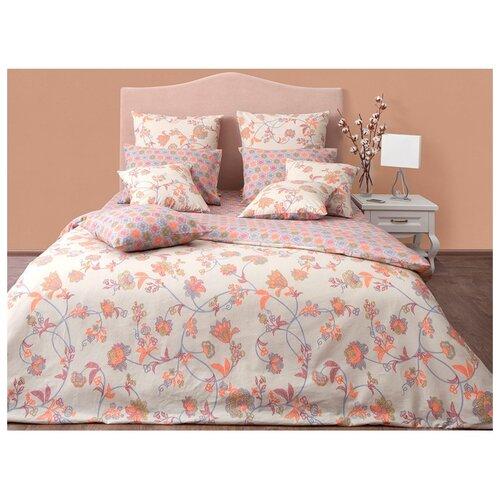 Постельное белье семейное Хлопковый Край Цветочные сны Элизабет бязь бежевыйКомплекты<br>