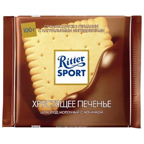 Шоколад Ritter Sport Хрустящее печенье молочный, 100 г
