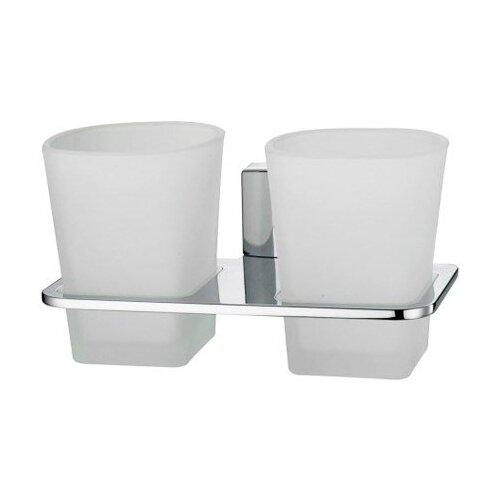 Стакан для зубных щеток WasserKRAFT Leine K-5028D белый/хром