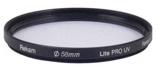 Светофильтр ультрафиолетовый Rekam Lite Pro UV 58 мм