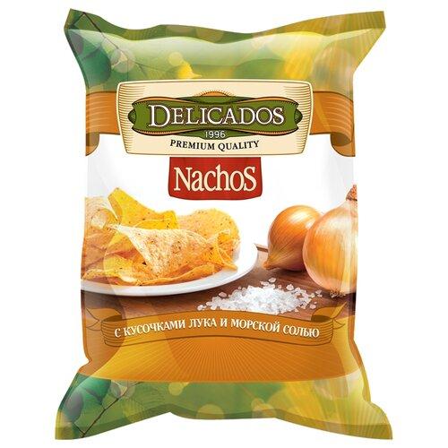 Чипсы Delicados Nachos кукурузные с кусочками лука и морской солью, 150 г