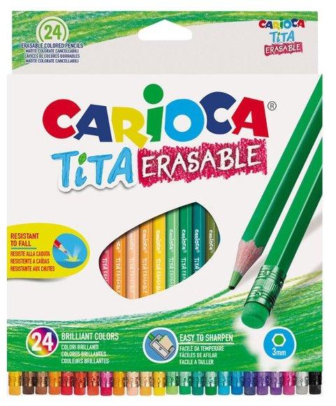 Карандаши цветные Carioca Tita Erasable 24 цветные 42938 / 262582