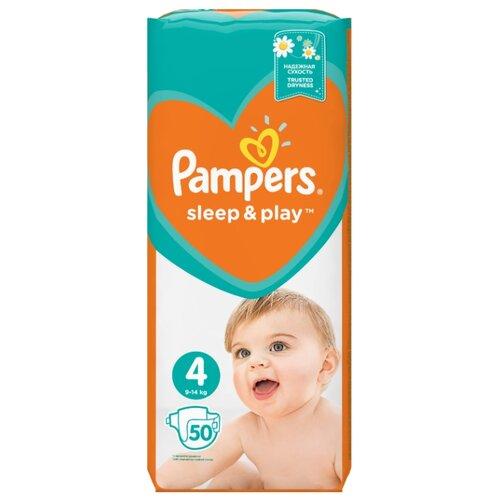 Pampers подгузники Sleep&Play 4 (9-14 кг) 50 шт.Подгузники<br>