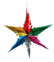 Подвеска Феникс Present звезда цветная 14 x 28 см