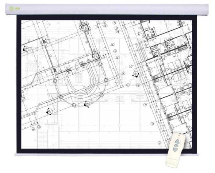 Экран настенный с электроприводом Cactus Motoscreen 180x180см (CS-PSM-180X180)