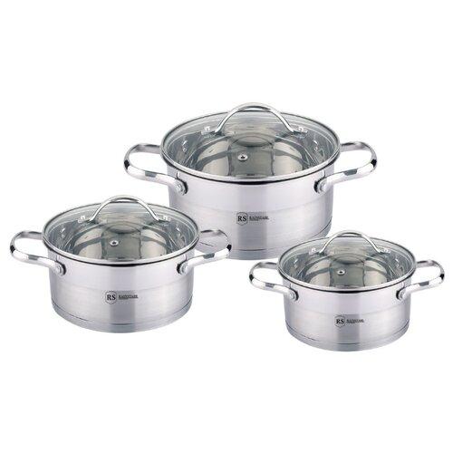 Набор кастрюль Rainstahl 1644-06RS\CW 6 пр. стальной набор посуды rainstahl 6 предметов 1616 06rs cw