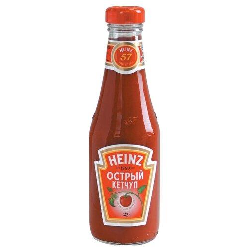 Кетчуп Heinz Острый, стеклянная бутылка 342 г