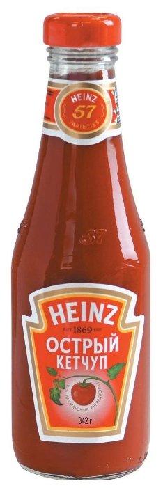 Кетчуп Heinz Острый, стеклянная бутылка