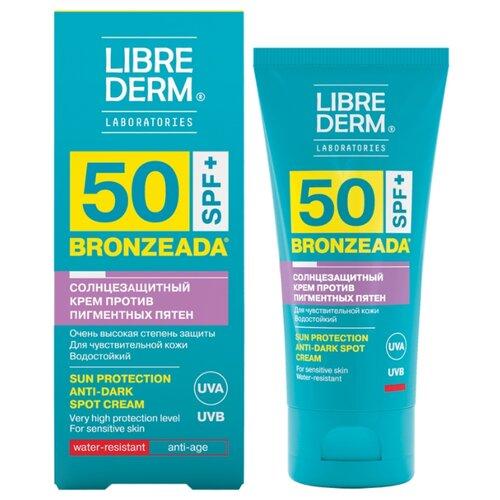 Librederm крем Bronzeada против пигментных пятен, SPF 50, 50 мл сыворотка концентрат отбеливающая от пигментных пятен dermatology brg витамин в3 librederm 50 мл