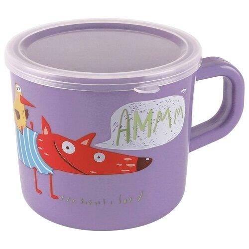Чашка Happy Baby с ручкой и крышкой (15043) lavender чашка с крышкой mukko home чашка с крышкой