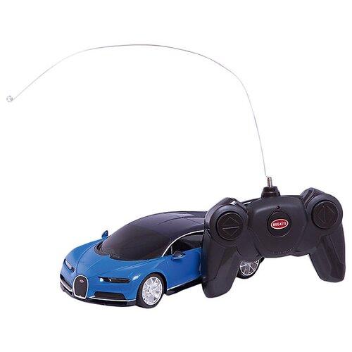 Купить Гоночная машина Rastar Bugatti Chiron (76100) 1:24 18.9 см синий/черный, Радиоуправляемые игрушки
