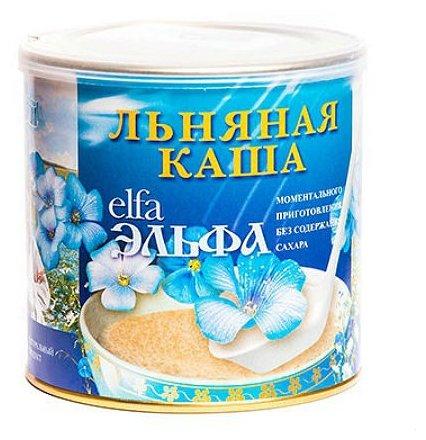 Каша льняная Эльфа из белого золотого льна курага, 400 г
