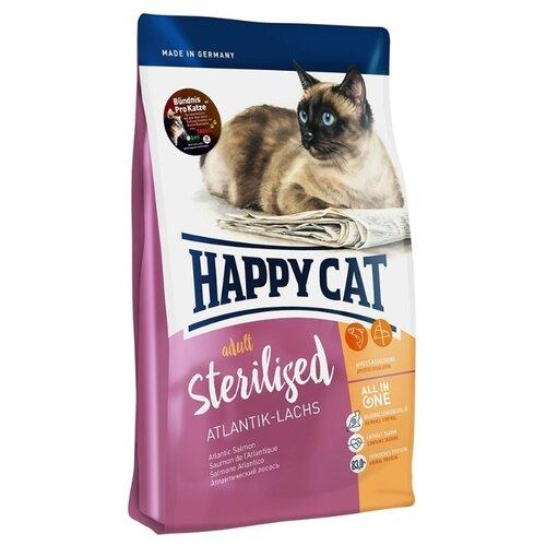Корм для кошек Happy Cat (10 кг) Sterilised Atlantik-LachsКорма для кошек<br>